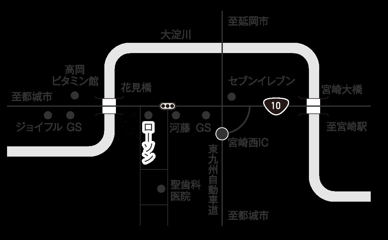 本社の周辺地図