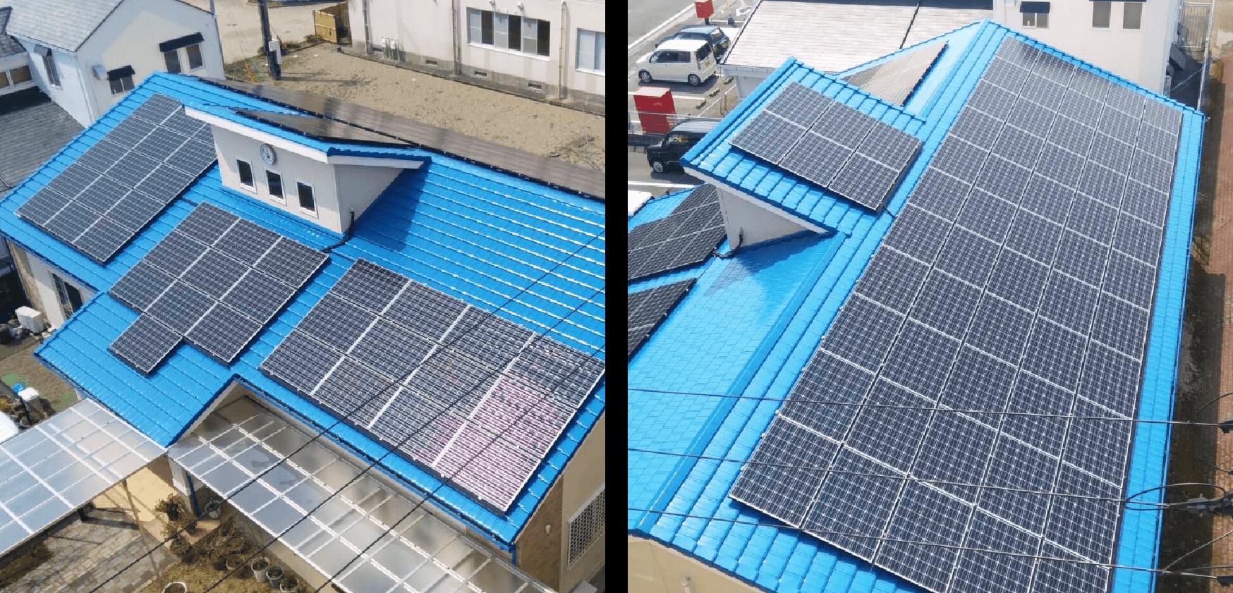 太陽光パネルの設置事例の画像