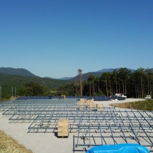 太陽光発電施工途中