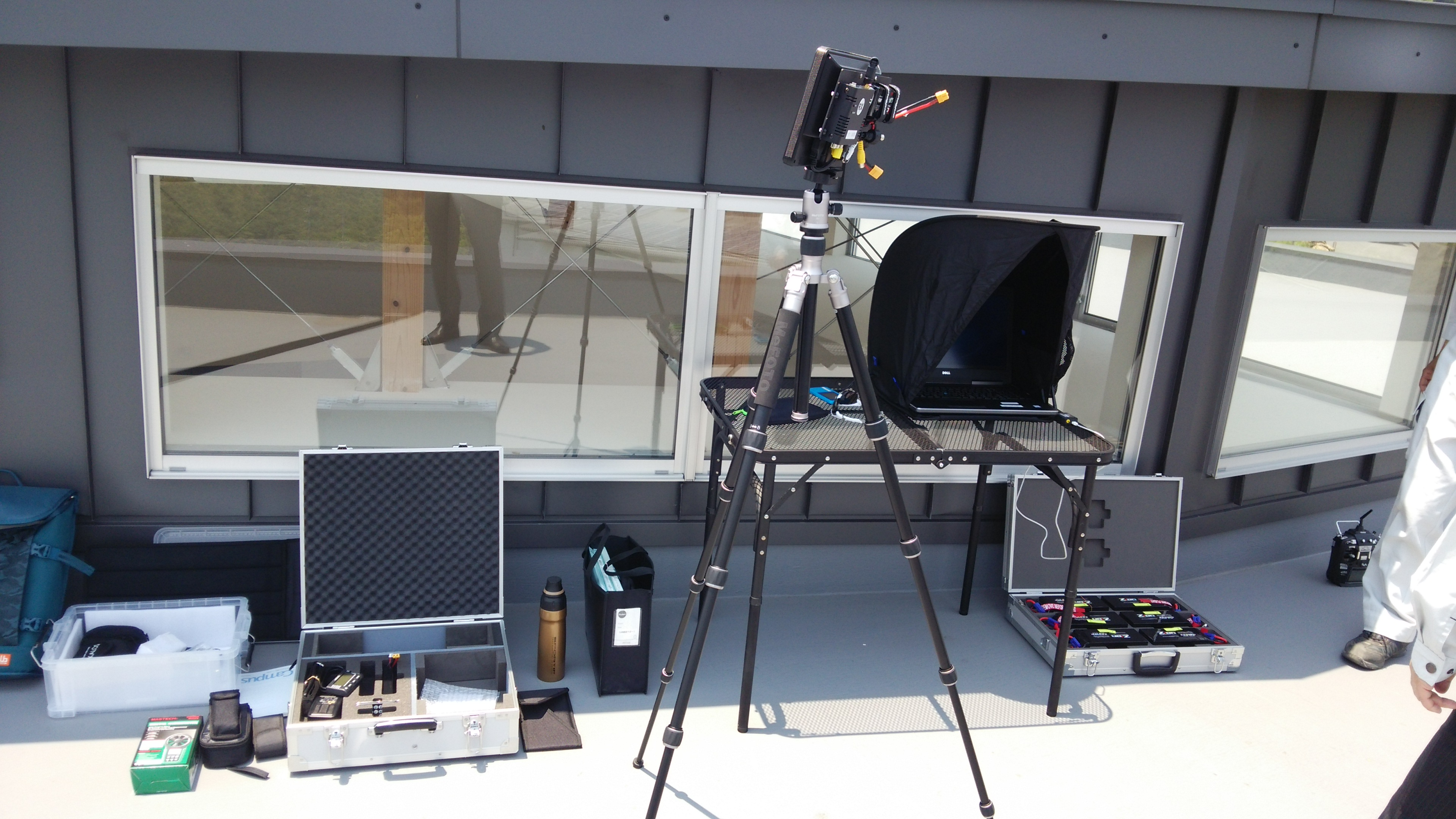 ドローンによる太陽光発電設備の検査を行いました。